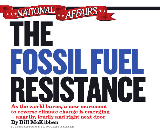 Rolling Stone Cover With Bill McKibben