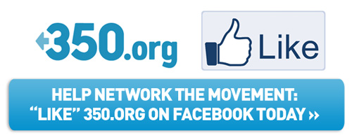 Like 350.org on Facebook