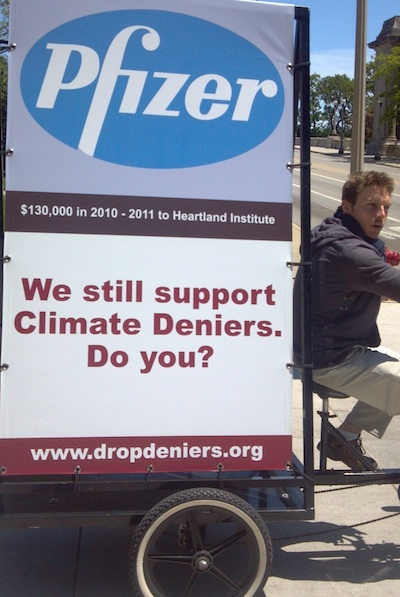 Bike ad targeting Heartland and Pfizer, a corporate sponsor