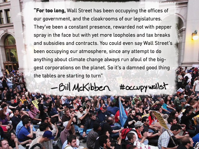 Bill McKibben and the climate movement stand in solidarity with #occupywallst