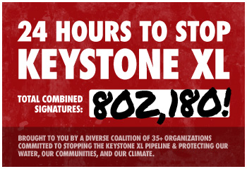 24 hours to stop Keystone XL