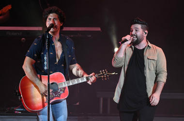 Dan Smyers and Shay Mooney of Dan + Shay perform