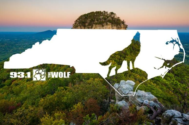 The Wolf over Pilot Mountain