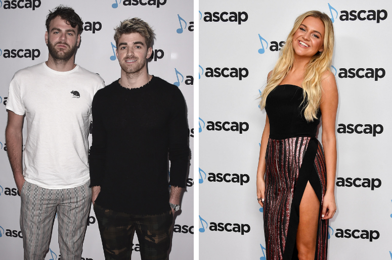 The Chainsmokers at the 35th Annual ASCAP Pop Music Awards at the Beverly Hilton on April 23, 2018 in Beverly Hills, / Kelsea Ballerini on the red carpet at the 55th annual American Society of Composers, Authors and Publishers (ASCAP) Country Music Awards