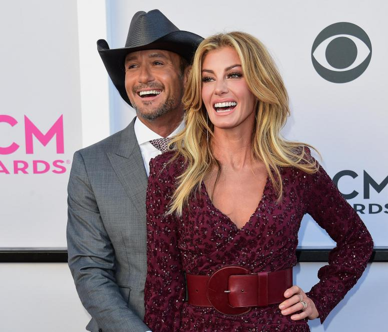 Tim McGraw and Faith Hill at ACM Awards