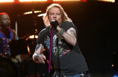 Axl Rose of Guns N' Roses performs in 2017