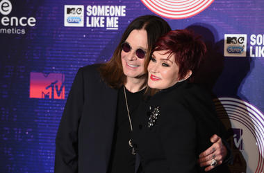 Ozzy Osbourne and Sharon Osbourne attend the MTV EMA's 2014 at The Hydro on November 9, 2014