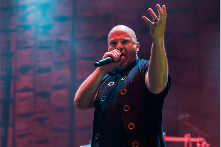 David Draiman of Disturbed performs