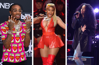 LOS ANGELES - JUNE 24: Ella Mai performs on the 2018 BET Awards at the Microsoft Theater on June 24, 2018 / Nicki Minaj performs on the 2018 BET Awards / Quavo walking on the red carpet at the 2018 Billboard Music Awards held at The MGM Grand Garden Arena