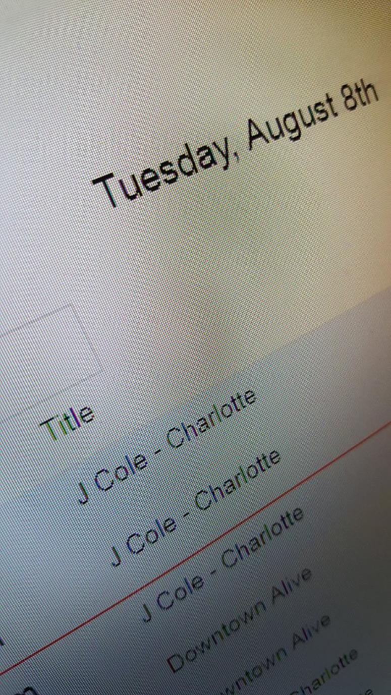 J Cole tickets in Charlotte on Wed August 9th