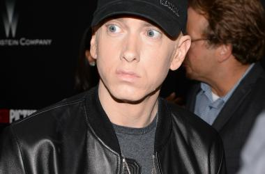 "Eminem attends the ""SouthPaw"" premiere at the AMC Loews Lincoln Square theatre in New York, NY."