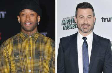 """13 December 2017 - Westwood, California - Ty Dolla Sign. Netflix's """"Bright"""" Los Angeles Premiere held at Regency Village Theatre in Westwood. / Jimmy Kimmel arrives at the truTV's """"Bobcat Goldthwait's Misfits & Monsters"""" Premiere held at The Hollywood"""