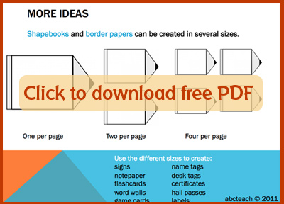 Shapebook Tips PDF