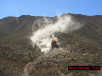 Sd  road making   blasting 2