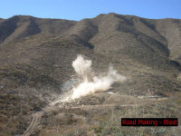 Sd  road making   blasting 3
