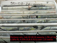 Sd montazez drill core sd 1786 gt   ag