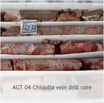 Aax photo agt04 chiquita vein drill core july 2018