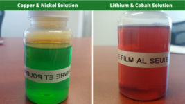 Sx metals in solution lithium cobalt and nickel copper