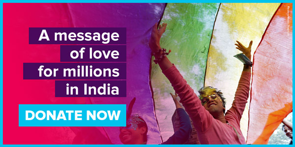 A message of love for millions in India. DONATE NOW
