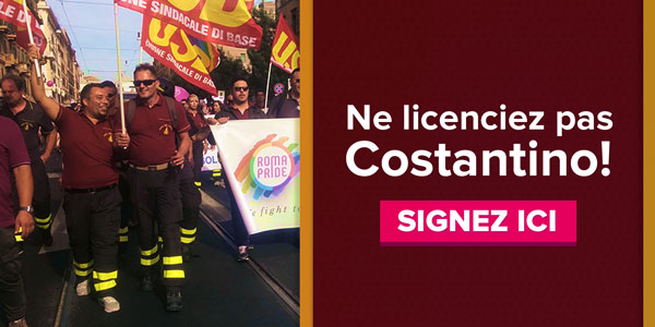 Ne licenciez pas Costantino ! Signez ici