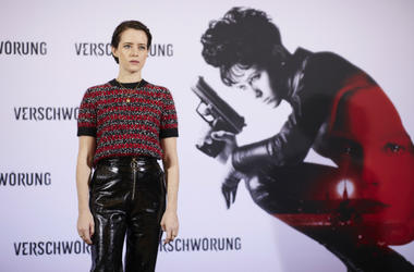 Claire Foy attends the photo call for the film 'Verschwoerung' at Grand Hyatt Hotel on October 29, 2018 in Berlin, Germany.