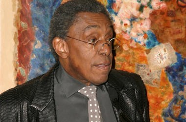 KRT ENTERTAINMENT STAND ALONE PHOTO SLUGGED: SOULTRAIN KRT PHOTOGRAPH BY AMANDA PARKS/ABACA PRESS (February 1) Don Cornelius announces 19th Annual Soul Train Music Awards nominations at Spago in Beverly Hills, California on February 1, 2005.