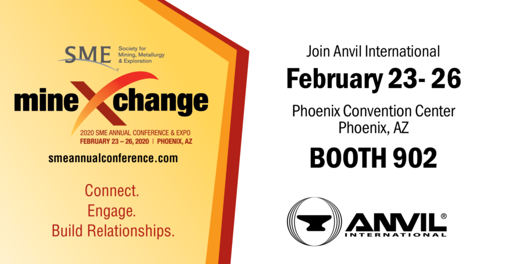 Phoenix Events February 2020.Sme Show 2020 Booth 902 Anvil International