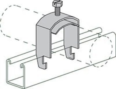 """AS 3105 1-1/4"""" One Piece Cable and Conduit Clamp"""