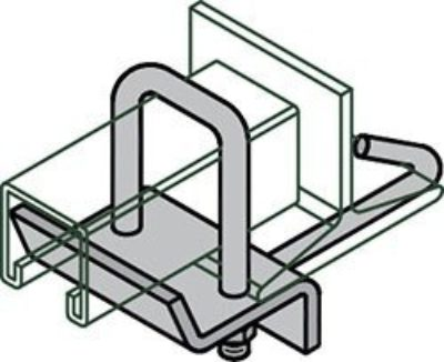 "AS 2656 ""U"" Bolt Beam Clamp with Hook"
