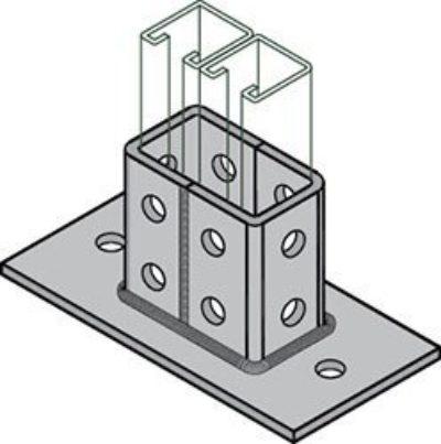 AS 2064 Double Column Post Base