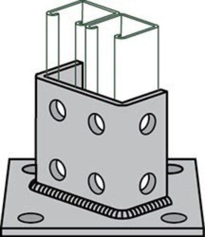 AS 3064 Double Column Post Base