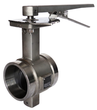 B480 Grooved End Stainless Steel Butterfly Valve with Lever Handle