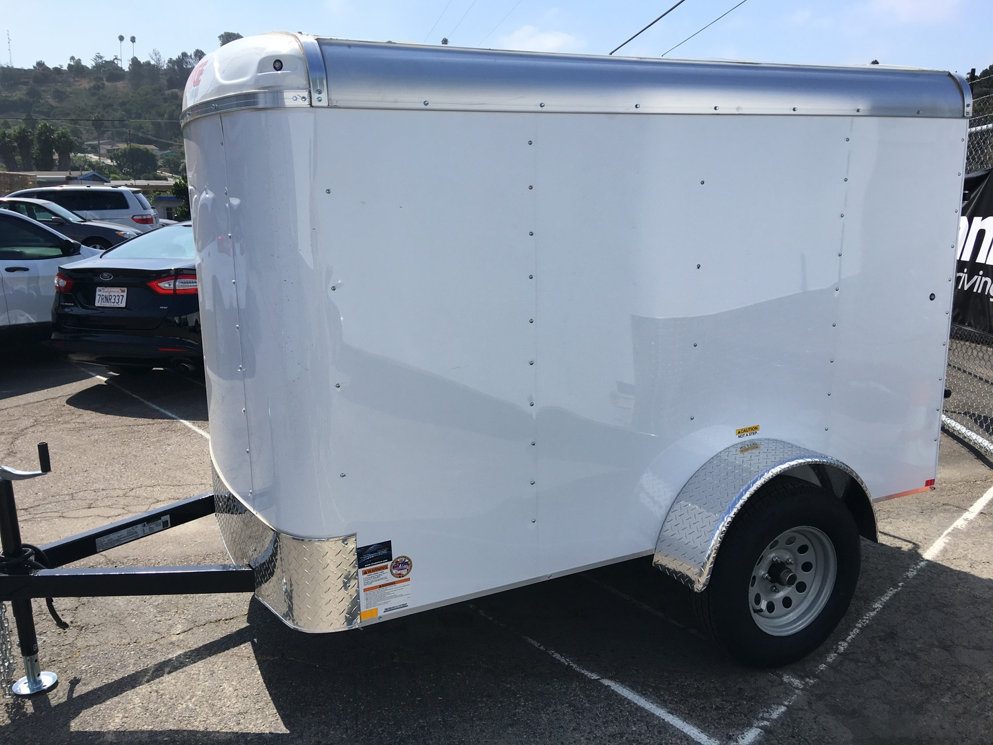 buy 2018 mirage 5x8 enclosed trailer oceanside ca conover tires wheels and service. Black Bedroom Furniture Sets. Home Design Ideas