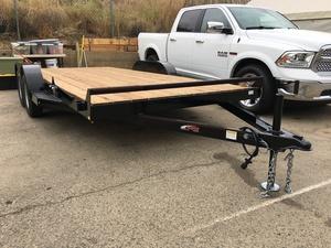 2018 Mirage 7x16 Tandem Car Hauler