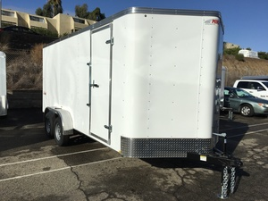 2019 Mirage 7X16 Tandem Enclosed Trailer - Ramp Door