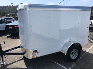 2018 Mirage 5X8 Enclosed Trailer - Ramp Door
