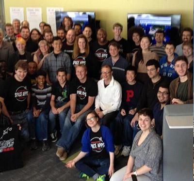 Group photo from NASA Hackathon
