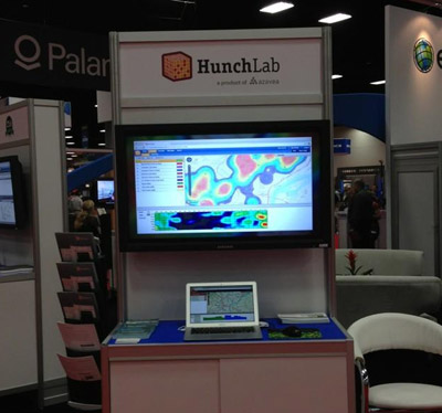 Photo of HunchLab booth at a convention