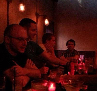 Photo of team out a bar