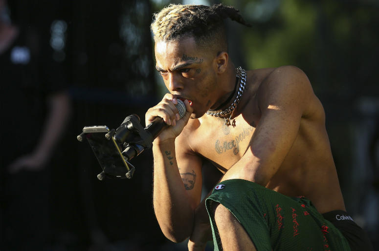 XXXTentacion performs during the second day of the Rolling Loud Festival in downtown Miami on Saturday, May 6, 2017.