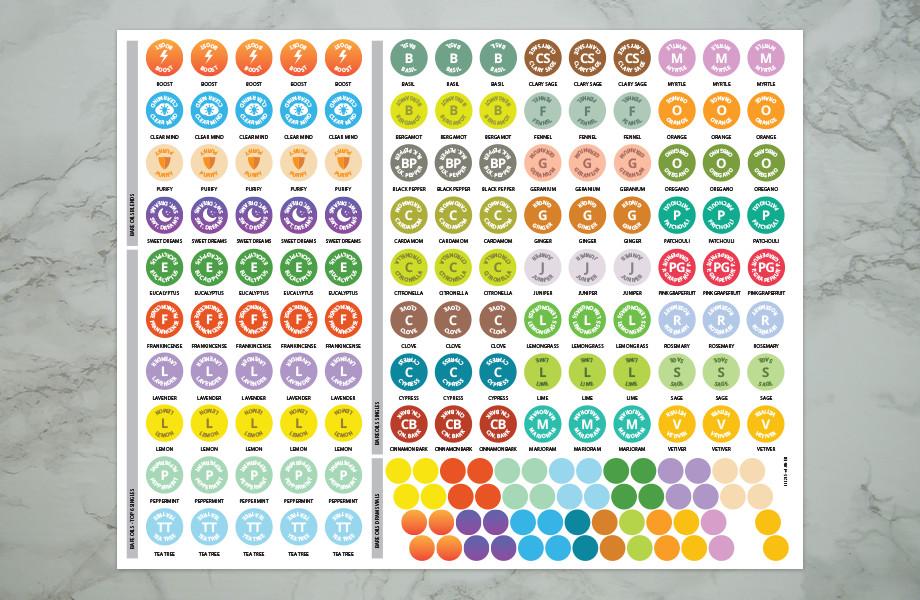 Bare Oils Full Sticker Sheet