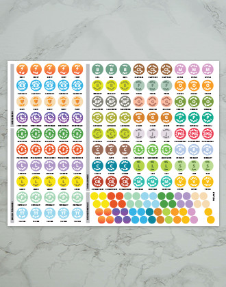 Bare Oils Full Sticker Sheet