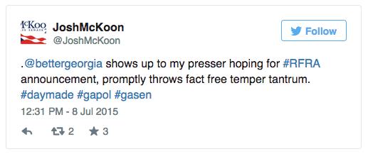Josh McKoon Tweet