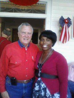 Nathan Deal, left, and Qiana Keith