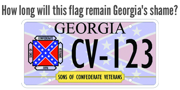 How long will this flag remain Georgia's shame?