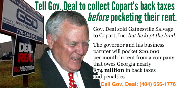 Nathan Deal Tax Day