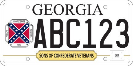 Georgia Confederate license plate