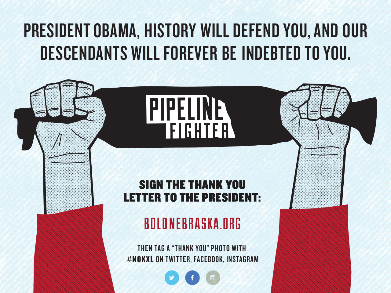 Sign the #NOKXL THANK YOU letter