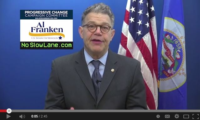 PCCC video with Al Franken speaking on debt-free college.