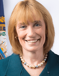 Turn on images to see Maggie Hassan.